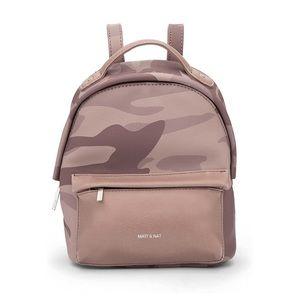 Matt & Nat Munich Mini Loom Backpack Lilac Camo